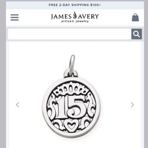 James Avery 15 Quinceanera charm birthday 🎂